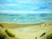 Dünen, Himmel, Wolken, Sand