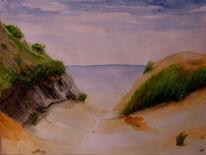 Sand, Dünen, Ausblick, Gras