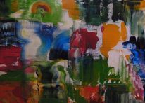 Quelle, Abstrakt, Malerei