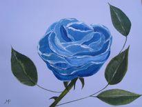 Blau, Rose, Malerei