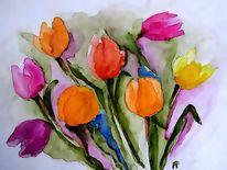 Tulpen, Frühlingsboten, Bunt