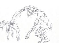 Demon by cazpahz, Malerei, Abstrakt