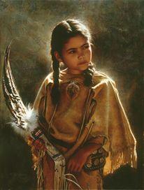 Fremde kulturen, Menschen, Indianer, Malerei