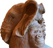 Affe, Skulptur, Tierbaum, Skulptur auftragsarbeit