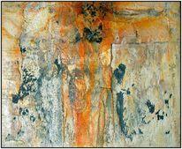 Abstrakt, Marmormehl, Sand, Ölmalerei