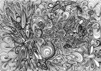 Schmetterling, Schwarz weiß, Urwald, Zeichnungen