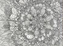 Schwarz weiß, Abstrakt, Zeichnungen, Karussell