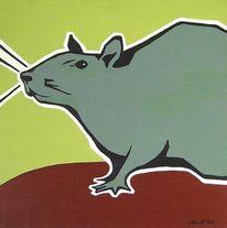Grün, Acrylmalerei, Ratte, Malerei