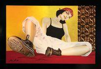 Frau, Ölmalerei, Acrylmalerei, Perspektive