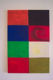 Bunt, Quatrate, Malerei, Spirale