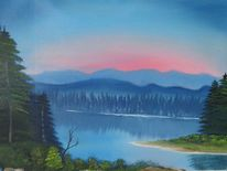Sonnenaufgang, Abendglanz, Malerei