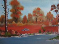 Herbst, Terrakotta, Eden, Malerei