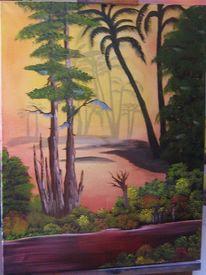 Wald, Idylle, Schatten, Farben