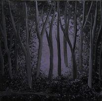 Mystik, Schatten, Violett, Lichteinfall