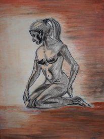 Akt, Pastellmalerei, Malerei