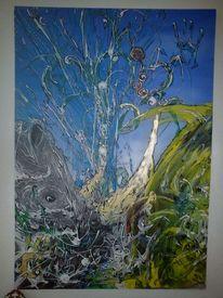 Acrylmalerei, Leben, Traum, Malerei