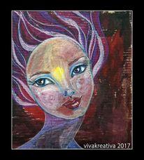 Mädchen, Heller blick, Junge frau, Portrait