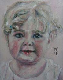Portrait, Kind, Malerei, Dezember