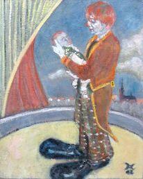 Malerei, Menschen, Sohn, Clown