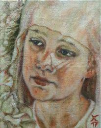 Rose, Mädchen, Madonna, Malerei