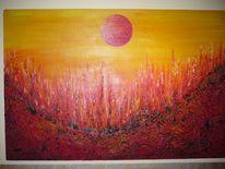 Malerei, Abstrakt, Feuer