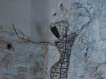 Metallskulptur, Tanz, Plastik, Abstrakt