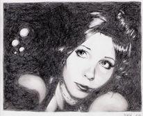 Zeichnungen, Portrait, Verträumt