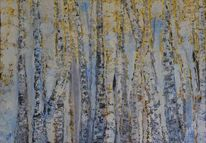 Ölmalerei, Natur, Birken, Baum