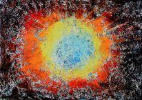 Schöpfung, Ewigkeit, Mischtechnik, Universum