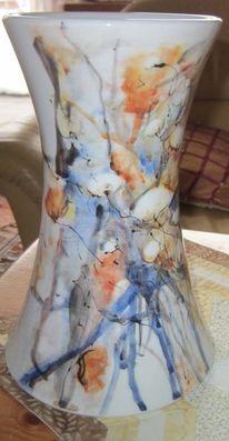 Abstrakt, Vase, Keramik, Baumwolle
