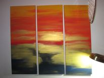 Sonnenaufgang, Ausstrahlung, Anfang, Triptychon