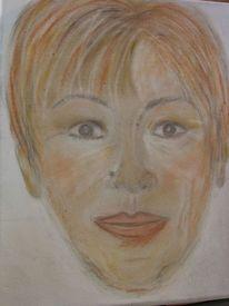 Portraitversuch, Ausdruck, Pastellmalerei, Seele