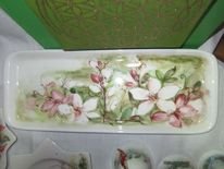 Zeller adventzaubermarkt, Handbemalte keramik, Torte, Liebevolles kunsthandwerk