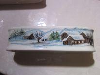 Handbemalte keramik, Bauernhaus, Liebevolles kunsthandwerk, Zeller adventzaubermarkt