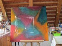 Schutzraum, Schubladisieren, Zoom, Acrylmalerei