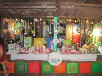 Blume des lebens, Lotosblume, Hobbyausstellung, Weihwasserkessel