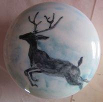 Symboltier, Blau, Keramikdose, Christliches symbol