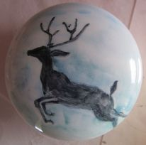 Keramikdose, Christliches symbol, Malen, Dynamik