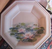 Lotusblume, Teller, Handbemalte keramik, Seerose