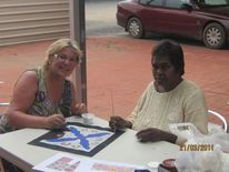 Australien, Zusammenarbeit, Alice springs, Dot painting