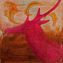 Geweih, Rosa, Symbol, Abstrakt