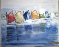Kunsthandwerk, Schiff, See, Malen