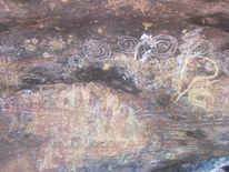 Felszeichnungen, Aborigenes, Australien, Anuanga