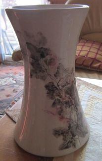 Malen, Efeu, Vase, Keramik