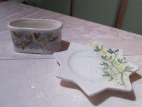 Mispel, Handbemalte keramik, Kunsthandwerk, Keramik