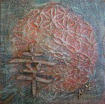 Temperamalerei, Lebensblume, Zeichensprache, Schriftzeichen
