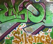 Enjoy the silence, Graffiti, Malerei