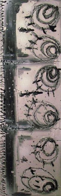Putz, Linker, Abstrakt, Malerei