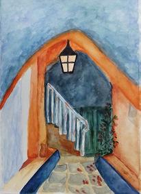 Eingang, Treppe, Malerei
