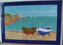 Strand, Seefahrt, Keramik, Vogel